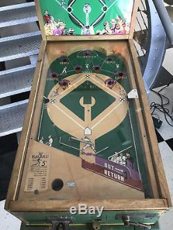 HEAVY HITTER 1947 BALLY PITCH n BAT BASEBALL GAME RARE VINTAGE PINBALL
