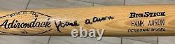 Hank Aaron Signed Vintage Adirondack Model Baseball Bat JSA LOA BRAVES