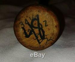 Hector Villanueva Baseball Autograph. Bat. Puerto Rico Vintage
