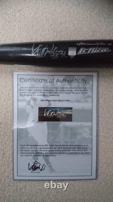 Ichiro official game actual use bat autographed beauty goods by EMS K1109