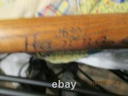 J630 Vintage Burke Hanna Wood Baseball Bat Hanna Mfg Co Athens, GA SP ANTIQUE BAT