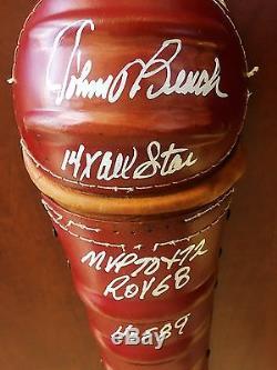 Johnny Bench HOF signed Cincinnati Reds bat glove shin guard vintage COA