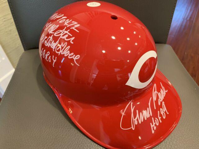 Johnny Bench Hof Signed Rawlings Baseball Reds Batting Helmet Coa Vtg Hof Rare