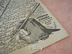 LOUISVILLE SLUGGER BATS VINTAGE ADVERTISING POSTER Baseball Collectible