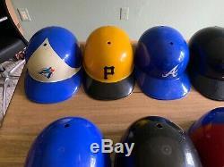 Lot of 15 Vintage MLB Replica Baseball Batting Helmets Adjust Laich 1969 RARE