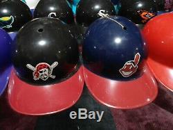 Lot of 17 Vintage MLB Replica Baseball Batting Helmets Adjustable Laich 1969