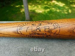 Lou Gehrig Vintage H&B Louisville Slugger Leader Baseball Bat 35 NICE Condition