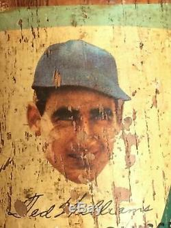 Louisville Slugger Little League Decal Baseball Bat Ted Williams 125J Vintage