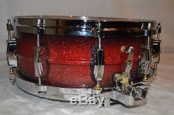Ludwig Super Sensitive Snare Drum Vintage CHICAGO baseball bat custom ALUMINUM