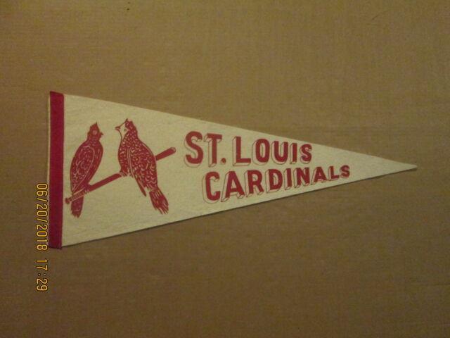 Mlb St. Louis Cardinals Vintage 1940's 2 Birds On The Bat Logo Baseball Pennant