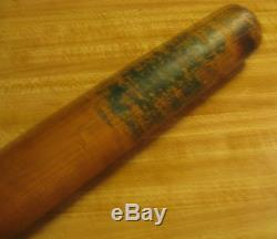 Mlb Vintage Wood Baseball Bat Louisville Bat Co No 3 Louisville Ky