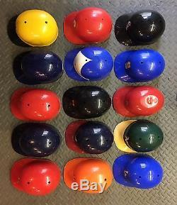 Major League Baseball Batting Helmet lot of 18 vintage MLB batting helmets