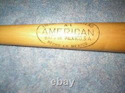 Mickey Mantle Vintage Mexican Wooden Baseball Bat-new York Yankees