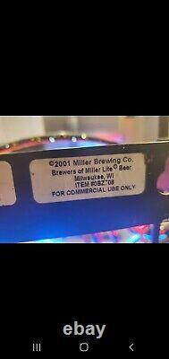 Miller Lite Beer Neon Electric Lighted Sign 50x20 rare vintage baseball mlb bat