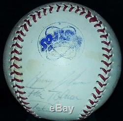 NOLAN RYAN Signed 1985 Houston Astros BASEBALL hof BALL vtg old auto rare 80s