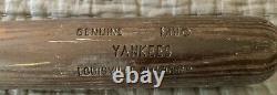New York Yankees Game Used Worn Vintage Louisville Slugger Baseball Bat