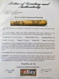 Nice Vintage Barry Larkin Game Used Cincinnati Reds Mlb Baseball Bat Psa Gu 9.5