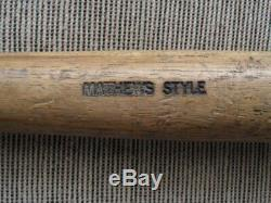 Old 1952-68 EDDIE MATHEWS Hickory Stick by Bemis VINTAGE BASEBALL BAT
