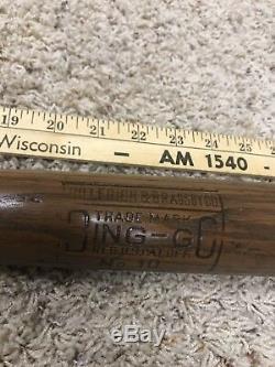 Old Baseball Bat Louisville Slugger Odd Stamp Bingo Rare Version Nice Vintage