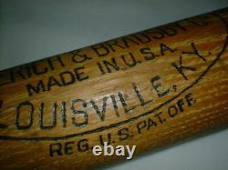Old LOU GEHRIG Bat 35 Vintage Louisville Slugger 125 Hillerich Bradsby YANKEES