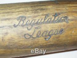 Old Vintage Antique Baseball Bat EDW. K TRYON Regulation League Flame Tempered