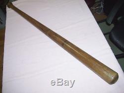 Old Vintage Early Antique 38 inch 4 Black Ring Baseball Bat 3902