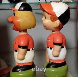 Oriole Bat Boy & Oriole Bird Bobbles Mint 1988 Vintage