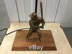 RARE VINTAGE 1960's Yankees MICKEY MANTLE Hartland Baseball Figure Bat & Shade