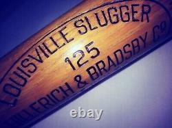 RAREST Old LOU GEHRIG Bat 35 SUPERIOR Vintage Louisville Slugger 125 NY YANKEES