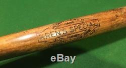 Rare 39 Joseph Kren Vintage Wood Fungo Baseball Bat New York Special Hand Made