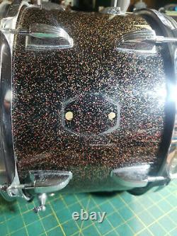 Rare Ludwig Vintage 1965 Black Galaxy Tom 12x 8 Keystone Badge Baseball Bat