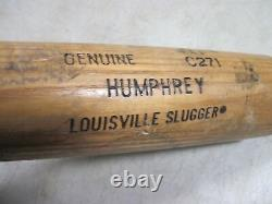 Rare Vintage Double Label Louisville Slugger 125 C271 Humphrey Baseball Bat