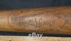 Rare Vintage Joe DiMaggio Model W. Bingham Co Double Header Baseball Bat Yankees