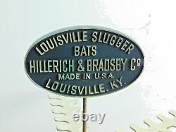 Rare Vintage Louisville Slugger Baseball Bat store Display 72 Bat Holder 60's