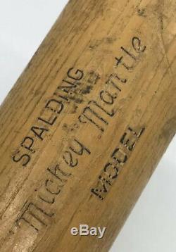 Rare Vtg 50s 35 SPALDING New York YANKEES MICKEY MANTLE Resilite Baseball Bat