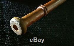 Rare early 1900s vintage hand turned double knob baseball bat
