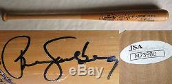 Ryne Sandberg Cubs Vintage signed LS Baseball bat auto HOF JSA COA