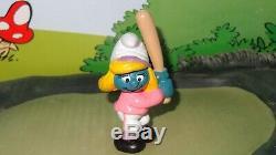 Smurfs Baseball Bat Smurfette Smurf 20186 Rare Vintage 1984 Figurine