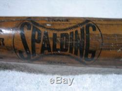 Spalding circa 1890's Wagon Tongue Model no. 000 Vintage Game Used Baseball Bat