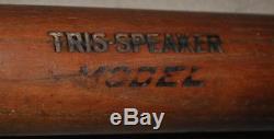 Tris Speaker 1920s Sanford Maine Vintage Baseball Bat Indians Red Sox