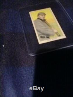 Ty Cobb T206 VINTAGE CARD BAT RESTING ON SHOULDERS