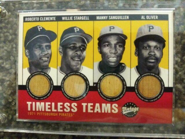Ud Vintage'timeless Teams' Pirates Bat Card Stargell, Clemente