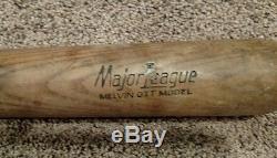 VINTAGE 1930's BASEBALL BAT MACGREGOR GOLDSMITH MEL OTT WithSTAMP RARE HOF