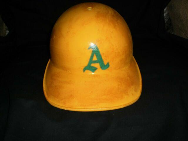 Vintage 1968 Oakland A's Joe Rudi Game Worn Baseball Batting Helmet Abc
