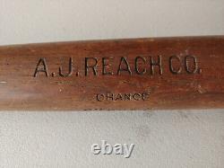 VINTAGE A J Reach CUBS Frank Chance model BASEBALL BAT Great condition