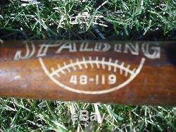 Vintage Hall Of Famer New York Yankees Catcher Yogi Berra Baseball Bat