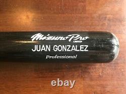 VINTAGE Juan Gonzalez Game un Used MIZUNO Uncracked Bat TEXAS RANGERS