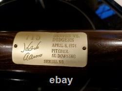 VINTAGE Magnavox HANK AARON Commemorative Bat 715 HR 4/8/74 Low Serial No. #3902
