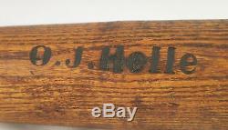 Vintage Old 1920's Lathe-turned Homemade Baseball Bat-outstanding