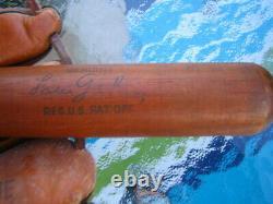 VINTAGE ORIGINAL 1930s LOU GEHRIG LOUISVILLE SLUGGER 16 WOODEN BASEBALL BAT NY